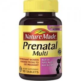 Paquete de 2 - Nature Made suplemento prenatal Multi dietética 90 tabletas ea