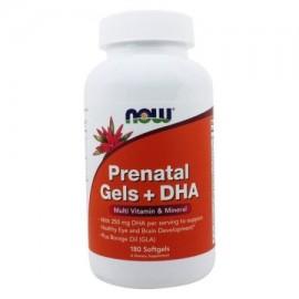 NOW Alimentos - Prenatal Geles - DHA vitamina múltiple y minerales - 180 Cápsulas Blandas