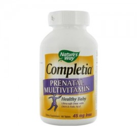 Completia prenatal Multi vitamina tabletas Por Naturesway - 180 Ea