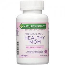 Nature's Bounty óptimos Soluciones Healthy Mom prenatal de multivitaminas Cápsulas 60 ea