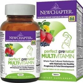 New Chapter Perfecto vitaminas prenatales fermentada con probióticos - folato - Plancha - vitamina D3 - B - Vitaminas orgánico