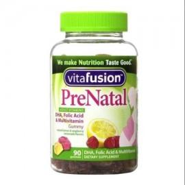 Vitafusion Pre Natal Gummy vitaminas suplemento dietético limón y frambuesa limonada Sabores 90 cada uno (paquete de 2)
