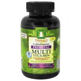 Emerald Labs - Prenatal Multi Vit-A-Min Raw Whole-Food fórmula a base - 120 cápsulas vegetales