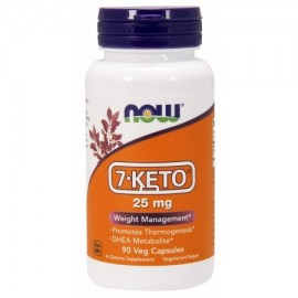 NOW alimentos vegetarianos 7-ceto control de peso 25 mg 90 Ct
