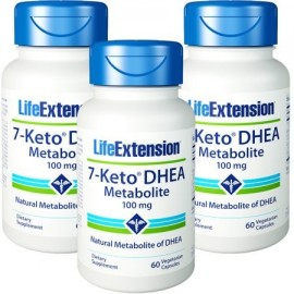 Life Extension 7-ceto DHEA metabolitos 100 mg 60 cápsulas vegetarianas 3 Botellas