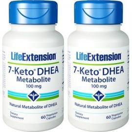 Life Extension 7-ceto DHEA metabolitos 100 mg 60 cápsulas vegetarianas 2 Botellas