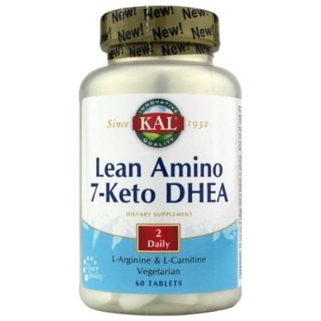 Kal - Amino magra - 7-Keto DHEA Vegetariana dos al día Tablet (BTL-plástico) 60 tabletas