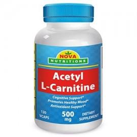 Nova Nutritions acetil L-carnitina 500 mg 120 Vcaps