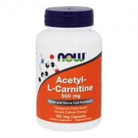 NOW Foods - acetil L-carnitina 500 mg. - 100 cápsulas vegetales