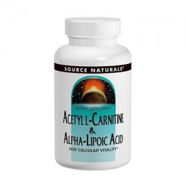 Source Naturals acetil L-carnitina y ácido alfa lipoico 650 mg 120 Count