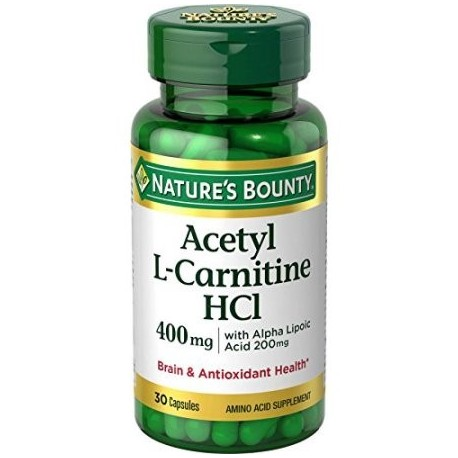 6 Pack Nature's Bounty Acetil L Carnitina-HCl 400 mg 30 cápsulas cada uno