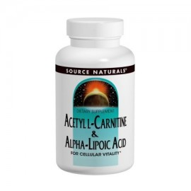 Acetil L-carnitina y ácido alfa-lipoico 650mg Source Naturals Inc. 30 más aquí