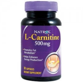 Natrol carnitina 500 mg 30 CT