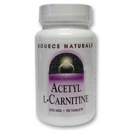Fuente Naturals acetil L-carnitina 250 mg comprimidos - 90 Ea