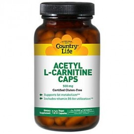 Country Life Vitamins - acetil L-carnitina 500 mg 120 Vegicaps