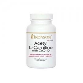 Bronson Acetil L-carnitina con CoQ10 120 Cápsulas