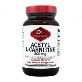 Olympian Labs acetil L carnitina 500 mg 60 cápsula