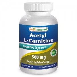 Best Naturals acetil L-carnitina 500 mg 120 Cápsulas