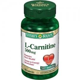 Nature's Bounty L-carnitina 500 mg comprimidos de 30 comprimidos (paquete de 2)