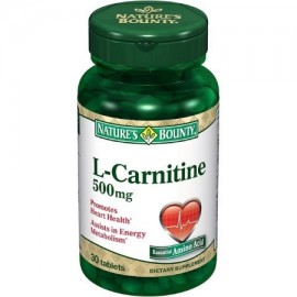 Nature's Bounty L-carnitina 500 mg comprimidos de 30 comprimidos (paquete de 4)