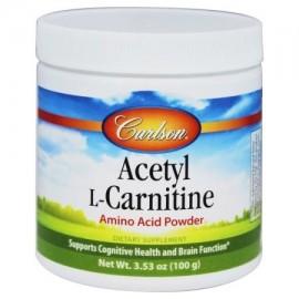 Carlson Labs - Acetil-L-Carnitina Amino Acid Powder 1200 mg. - 100 gramos