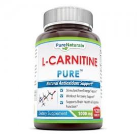 Pure Naturals L-carnitina dobles Potency Tablets 1000 mg 120 Count