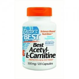Doctor's Best Acetil-L-Carnitina cápsulas 500 mg 120 Ct
