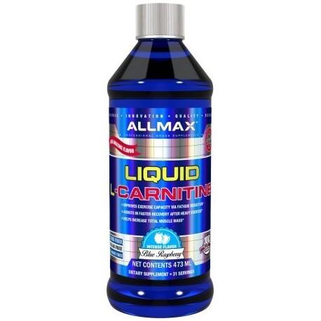 AllMax Nutrition Liquid L-Carnitina - 16 Fl. Onz. Frambuesa azul (L-Carnitina)