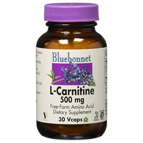 Bluebonnet - L-carnitina 500 mg 30 Vcaps