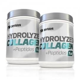 Paquete de 2 Perfotek prima péptidos de colágeno hidrolizado de colágeno en polvo sin gluten sin sabor Inodoro fácil de mezc