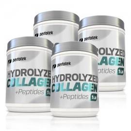 Paquete de 4 Perfotek prima péptidos de colágeno hidrolizado de colágeno en polvo sin gluten sin sabor Inodoro fácil de mezc