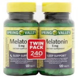 Spring Valley melatonina Tablets 5 mg 120 pc 2 ct