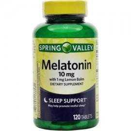 Spring Valley Melatonina Suplemento dietético 10 mg 120 recuento