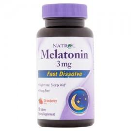 Natrol Tablets Flavor melatonina fresa 3 mg 90 recuento