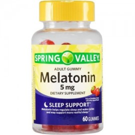 Spring Valley adulto gomoso Melatonin 5 mg 60 ct