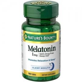 Nature's Bounty tabletas melatonina suplemento dietético 1 mg 180 recuento