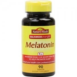 Nature Made Melatonina 5 mg tabletas de suplementos alimenticios - 90 CT