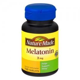 Nature Made Tablets melatonina suplemento dietético 3 mg 150 ct