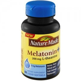 Nature Made 200 mg Melatonina - L-teanina 60 CT (Pack de 3)