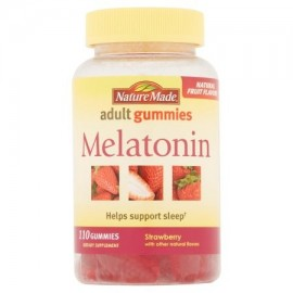 Nature Made suplemento melatonina fresa adulto Gummies dietética 110 ct