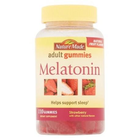 Nature Made suplemento melatonina fresa adulto Gummies dietética 110 ct