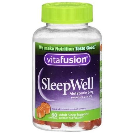 Vitafusion SleepWell gomosa Soporte para el Sueño para adultos 60 conteo