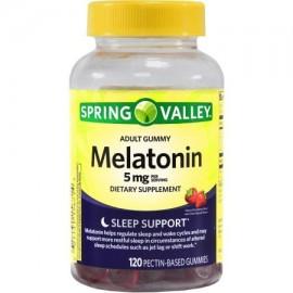 Spring Valley 5mg Sv adulto gomoso de melatonina