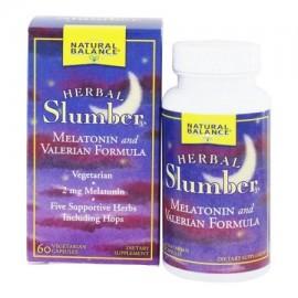 Natural Balance - Herbal pijamas melatonina y valeriana Formula - 60 Cápsulas