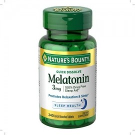 Nature's Bounty Melatonina 3 mg comprimidos 240 Tablets (Pack de 2)