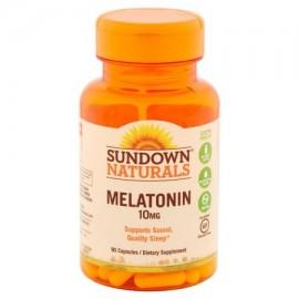 Sundown Naturals cápsulas de melatonina suplemento dietético 10 mg 90 conteo