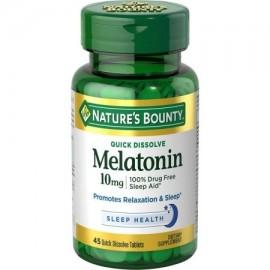 Nature's Bounty Melatonina 10 mg Disolver rápida Tablets 45 ea (Pack de 4)