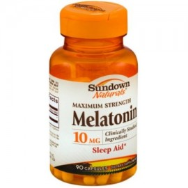 Sundown Naturals Melatonina 10 mg fuerza máxima Tablets 90 ea (Pack de 2)