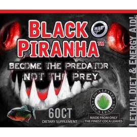 BLACK PIRANHA 60 CAPSULAS DE CAFEINA ANHIDRA Y HOJA DE COCA