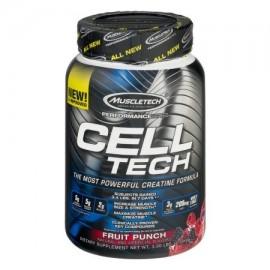 MuscleTech Cell Tech creatina Fórmula ponche de frutas 3.0 LB